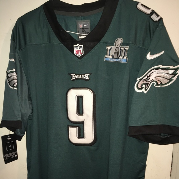 premium selection 19581 16be9 Nick Foles Phila Eagles Jersey w/ Super Bowl Patch NWT